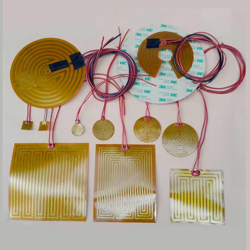 SWMAKER 25/70/44/160/180/220/260/240/330mm Ronde polyimidefilm Heater bed NTC3950 Thermistor voor Delta Kossel 3D Printer