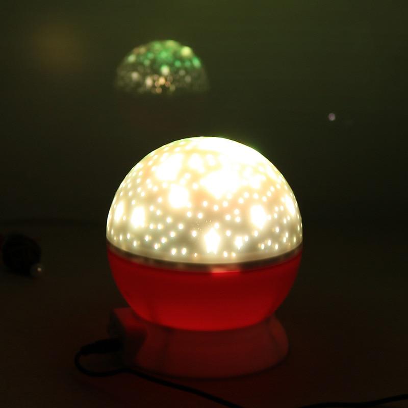 Novelty LED Rotating Star Projector Lighting Moon Starry Sky Children Baby Night Sleep Light Battery Emergency Projection Lamp 4