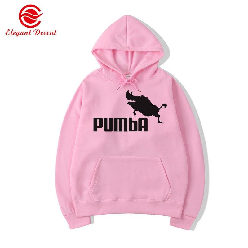 2019 Funny Hoodies Men Women Pumba Hoodie Wild Boar Printed Sweatshirt Fashion Casual Streetwear Cool Brand Pullover Y04