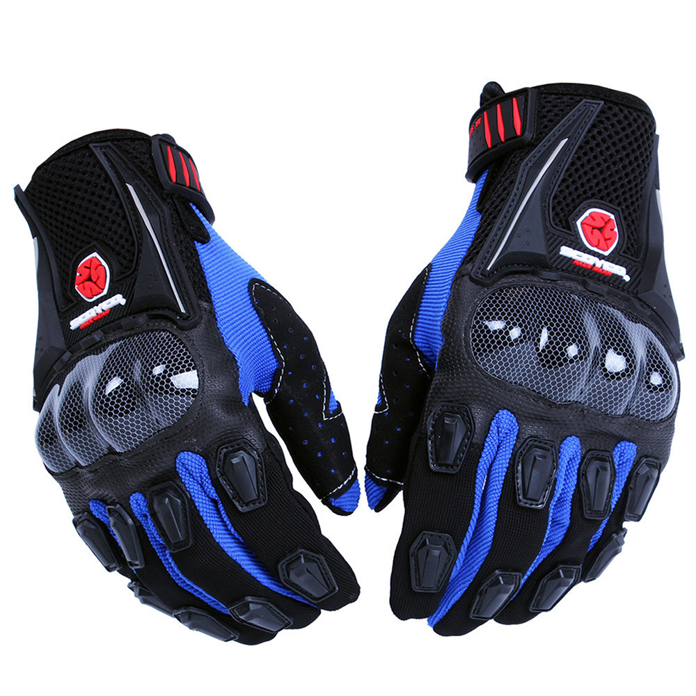 RED,L SCOYCO Touch Screen Full Finger Motorcycle MBX Gloves for Men,Reinforced Knuckle Padded Palm Ventilate Glove