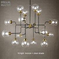 Modern Restaurant Bedroom Suspension Pendant Lights Vintage Industrial Arts Glass Lustre Lustres Ball Hanging DNA Beans