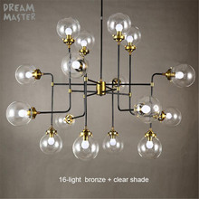 Modern Chandeliers LED Lustre Lamps Art Decoration Lights E14 Industrial Glass Chandelier island lights