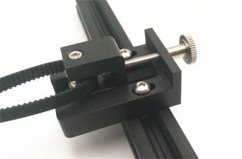 Funssor anet e10 3d 프린터 업그레이드 알루미늄 y 축 텐셔너 키트 검정색 알루마이트 anet e10 타이밍 벨트 텐셔너 조정
