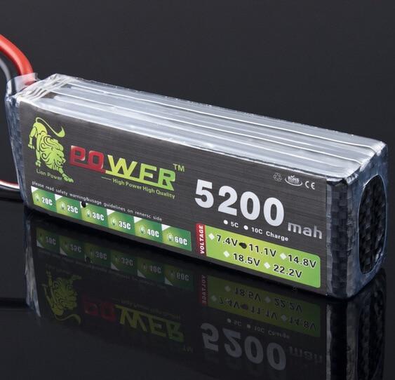 Lion Power 11.1v 5200mah MAX 35C T/XT60 pour Halicopter bateaux avions 11.1 V 5200mah lipo batterie 3s batterie au Lithium