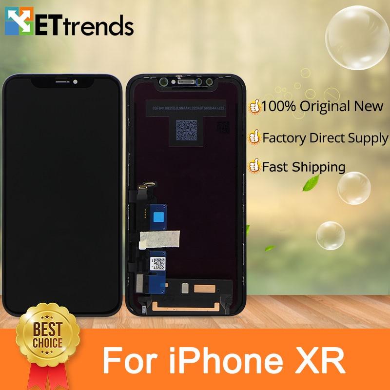2 PCS/LOT 100% Meilleur Origine Nouveau Écran D'affichage Pour iPhone XR écran lcd Digitizer Assemblée Parfait Couleur avec DHL Libèrent Le Bateau