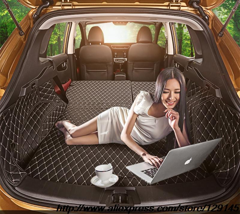All surround car trunk mat for Nissan Qashqai 3D TPE XPE Anti slip leather trunk pad