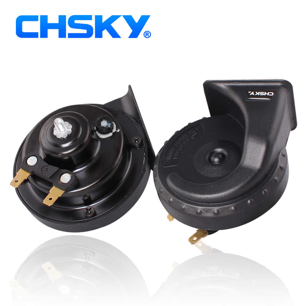 CHSKY Design Patent Long Life Time Car Horn New Technology Sound Channel Loud Sound Auto Horn 12V 110db High Low Klaxon