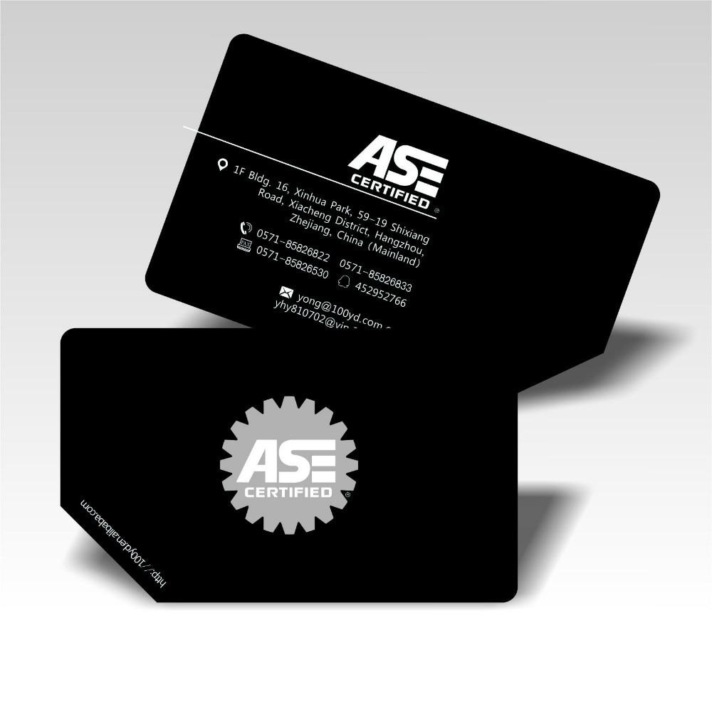 2016 Horizontal Design Black Custom Business Cards Logo Ptinting Die ...