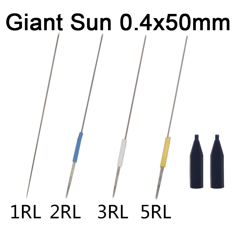 Permanent Makeup Machine Needles 100pcs with needle cap Standard Needles For sunshine Tattoo Makeup Pen Giant sun G-8650 G-9740 hombres g cap roig
