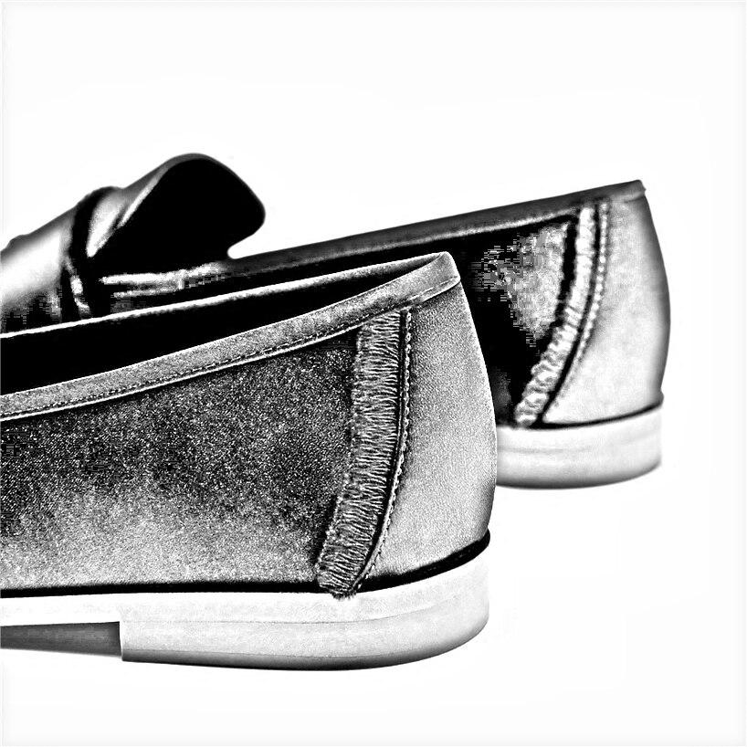 Bande 3 Oxford Chaussures Gland 2 Célèbre Velours Appartements Femme Espadrilles Creepers 1 Mocassins Soie De qtpFxUaan