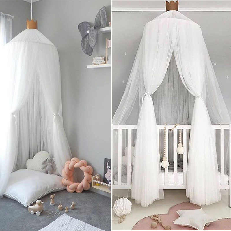Summer Children Kid Bedding Mosquito Net Romantic Baby Girl Round Bed Mosquito Net Bed Cover Bed Canopy For Kid Nursery D14