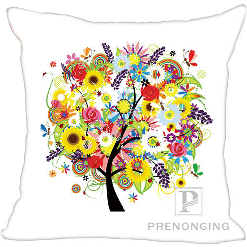 171203#06-05 Cheapest Price From Our Site one Side Custom Pillowcase Cover Life Tree Square Zipper Pillow Cover Print Your Pictures 20x20cm,35x35cm