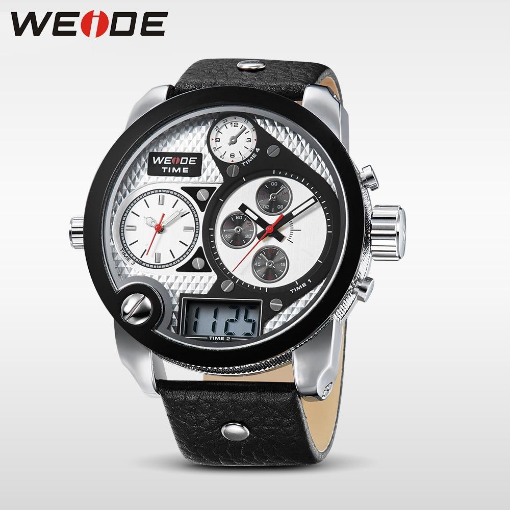 WEIDE Marka Mężczyźni Vintage Wielu Zegarek LCD Quartz 3ATM - Męskie zegarki - Zdjęcie 3