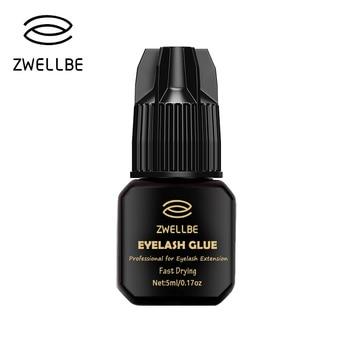 Zwellbe 5 мл клей для наращивания ресниц 1-3 секунды быстрая сушка ресницы Клей Pro ресниц Клей Black Клей удержания 5-7 недель