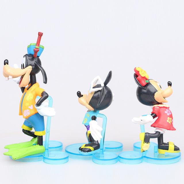 Disney Mickey Minnie Donald Duck  6Pcs