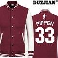 Scottie Pippen DUZJIAN Primavera nuevo Toro chaqueta casual Big Fundamental hombres baratos chaquetas de invierno macho muchachos de la capa chaqueta de hip hop