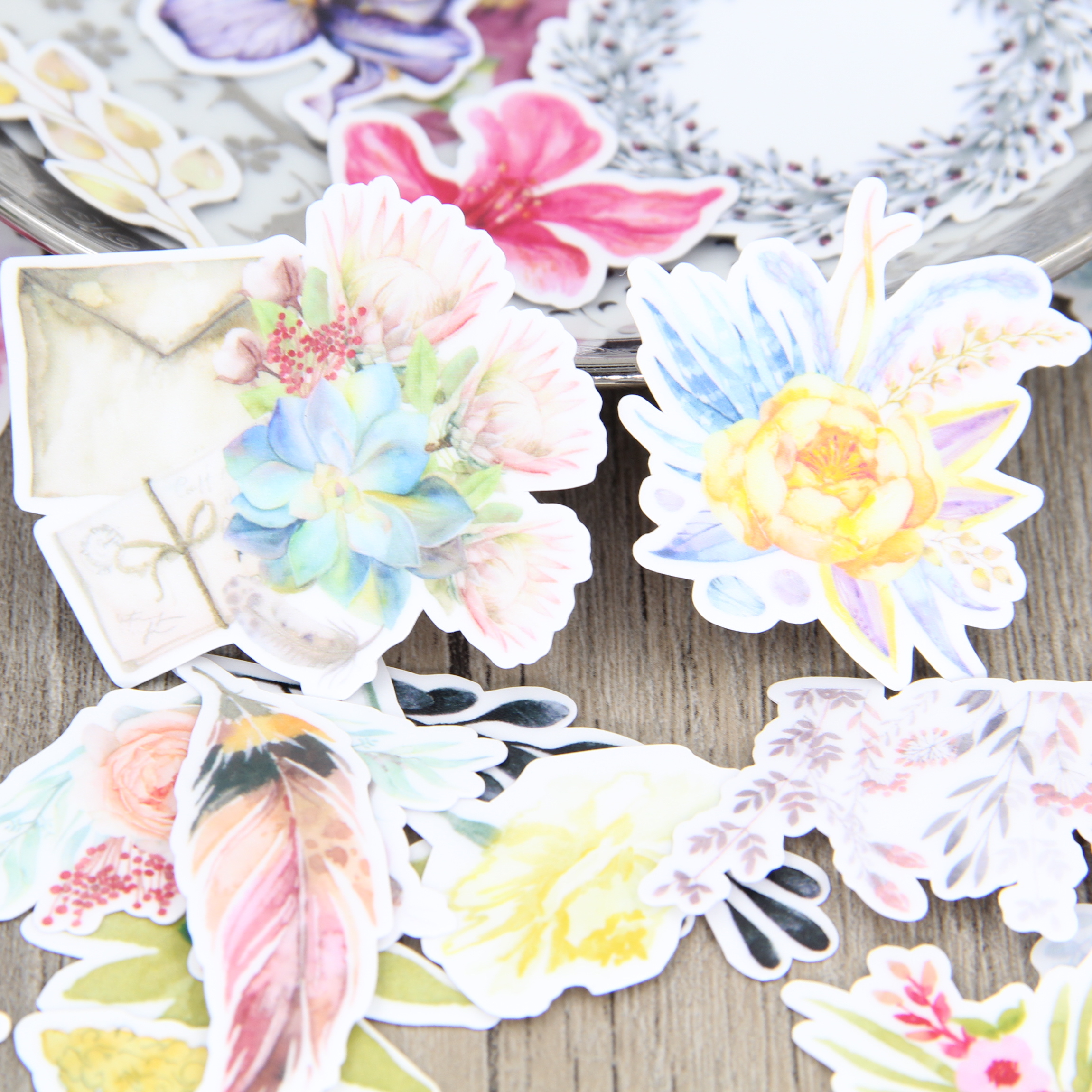 Scrapbook paper books - Aliexpress Com Buy 32pcs Watercolor Drawing Flower Scrapbooking Stickers Floral Decorative Diy Craft Diy Sticker Pack Book Deco Diary Deco From Reliable
