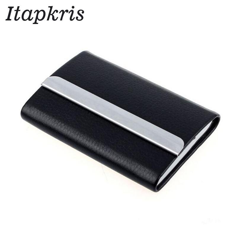 Fashion Business Credit Card Holder Women Metallic PU Leather Rfid Wallet Male Bank ID Name Card Case Porte Carte Cardholder passport cover porte cardholder carte card case travel wallet business id bolsa new credit card holder bag pu leather carteira