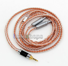 2.5mm 4pole TRRS Balanced 16 Core OCC Silver Mixed Headphone Cable For Senheiser HD800 HD800s LN005842