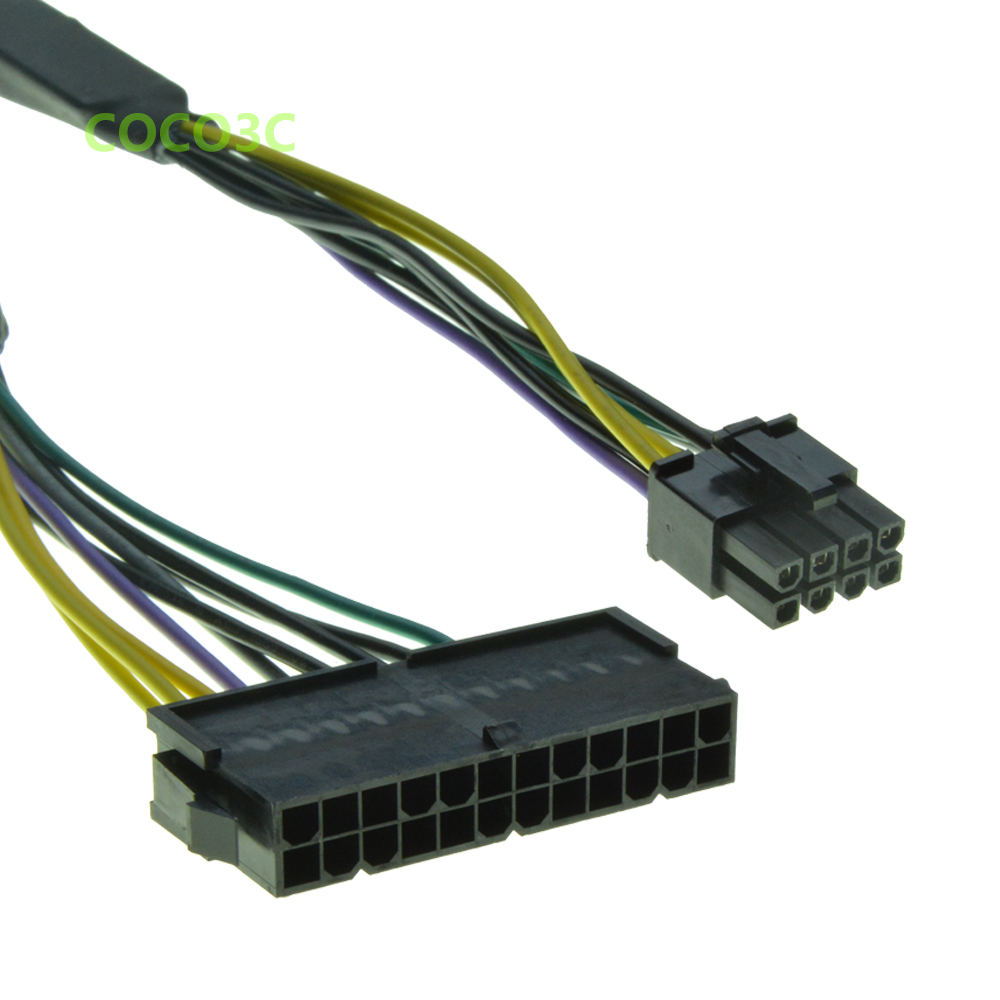 Power Cable For Dell 30cm 24pin To 8pin Optiplex 3020 7020 9020 Atx 1000w Supply Wiring Diagram Cpu T1700 18awg