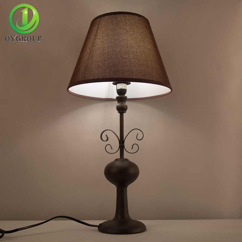 Sincere Modern Simple Real Brass Table Lamps Study Light Bedroom Bedside Lights Cloth Lampshade Home Lighting Led Desk Light E27 Bulb Led Lamps Led Table Lamps
