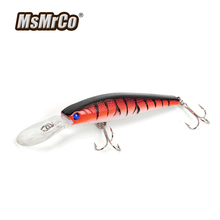 MSMRCO 1PCS 4 Color 12.4CM 14G Minnow Artificial Lure Hard Bait Bionic Wobblers Top Quality Hooks 3D Eye Lifelike Fishing Tackle