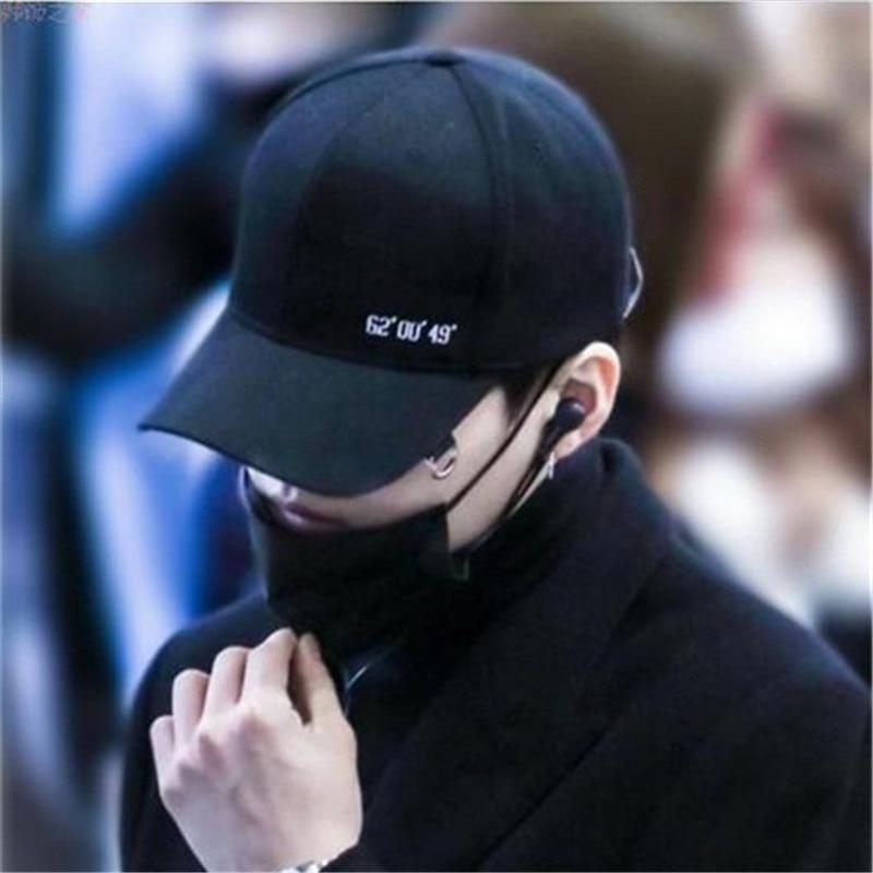 Prix pour BTS SUGA Mode K POP NOMBRE broderie Chapeaux réglable casquette de baseball