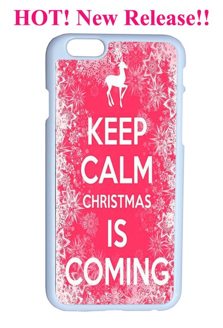 Keep Calm Christmas Is Coming.Us 6 5 Pink Flower Reindeer Keep Calm And Christmas Is Coming Quote Hard Top Quality Plastic Cover Case For Iphone 6 4 7 Inches On Aliexpress Com