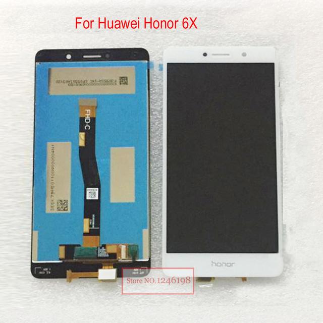 """5.5 """"new top quality painel lcd screen display toque digitador assembléia para huawei honor 6x bln-tl00 bln-tl10 peças de reposição"""