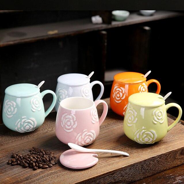 Free Shipping Relievo Design Decor Coffee Mugs Painting Retro Ceramic Cup Milk Tea Mug Drinkware