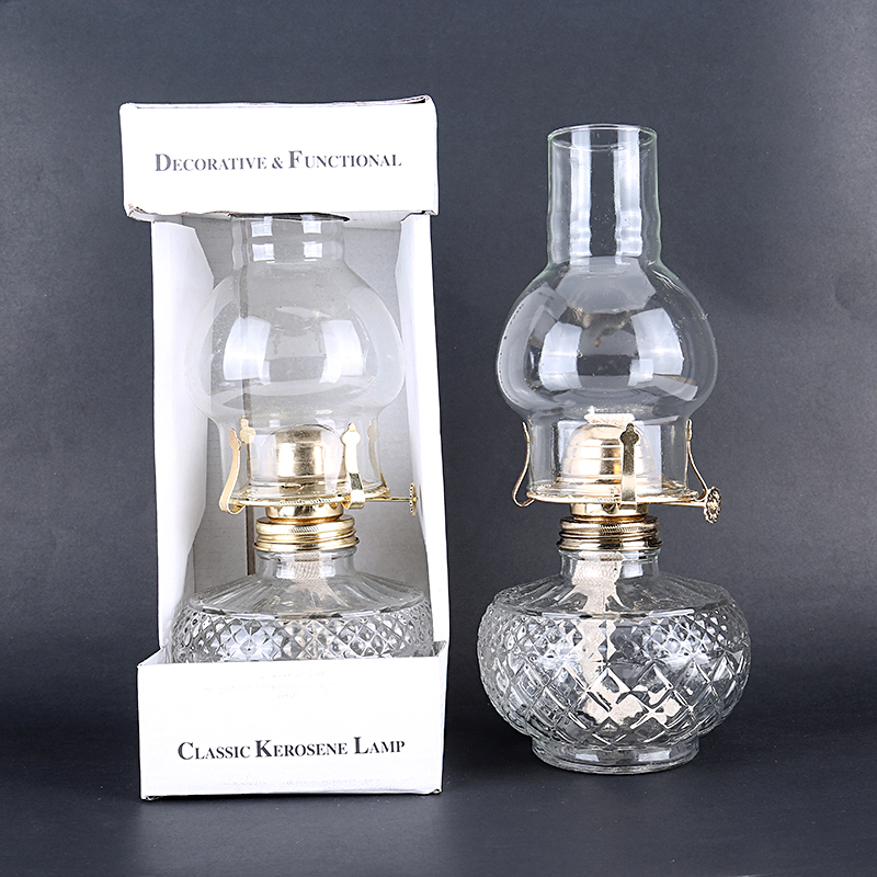 Advance Booking 30cm Glass Kerosene Lanterns  Large Capacity Oil Lamp Glass Classic Retro Family Decorative Lights High Quality