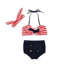 ac1271e53 3 piezas bebé recién nacido verano infantil niños bebé niñas traje de baño  tiras traje de baño Bikini conjunto trajes dropshippi.