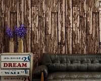 beibehang papel de parede wall paper Nostalgic PVC wallpaper antique board bar personality fashion women clothing shop wood wall