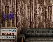 beibehang papel de parede wall paper Nostalgic PVC wallpaper antique board bar personality fashion women clothing shop wood
