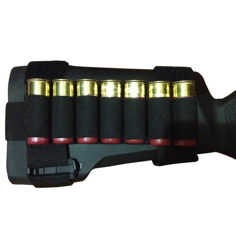 Tactical Hunting 4 Round Shotgun Shell 12G Ammo Carrier Holder Hook Loop Tan