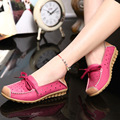 Elegant Square Rhinestone Soft Leather Women Flats Brand Shoes Woman Boat Shoes Casual Ladies Flats Plus Size 40 Free Shipping