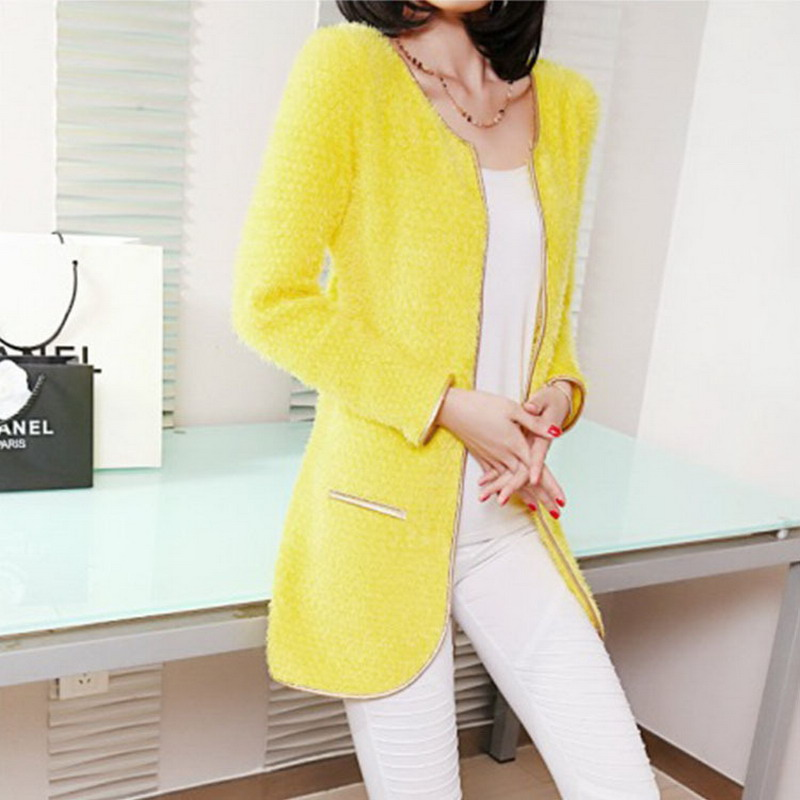 Free shipping New Fashion 2017 Women Autumn Winter Cardigans Casual Loose  Long Sleeve Yellow Red Beige - Online Get Cheap Long Yellow Sweater -Aliexpress.com Alibaba Group