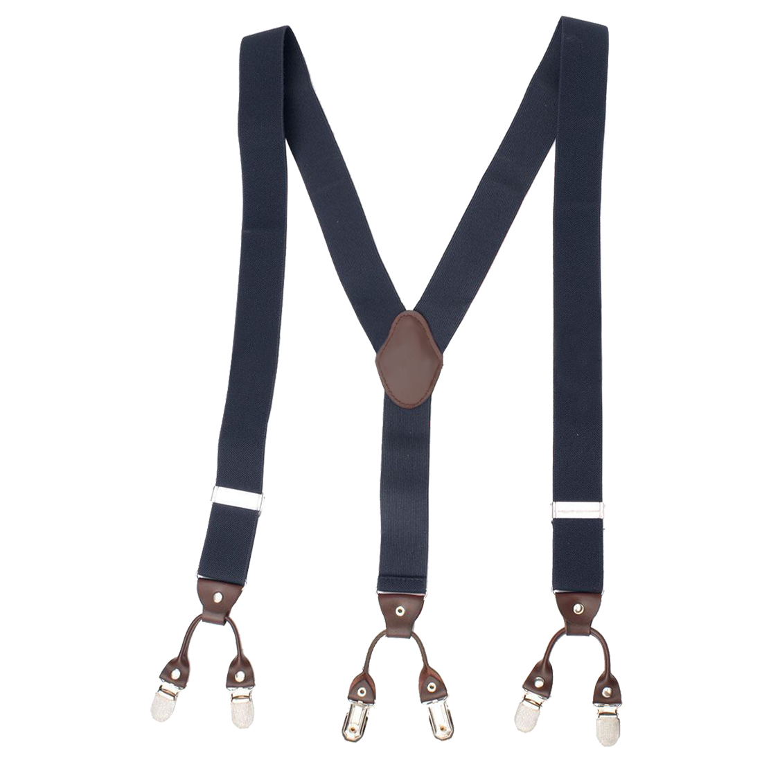 Men Trouser Suspender Adjustable Y-Shape Elastic Braces Buckle Color:Navy