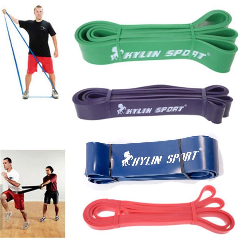 Sæt med 4 Styrke Modstand Bands Loop Fitness Power Lifting Træk op Styrke muskler