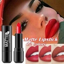 12 цветная жидкая губная помада матовая долговечная косметика для губ красный матовый обнаженный