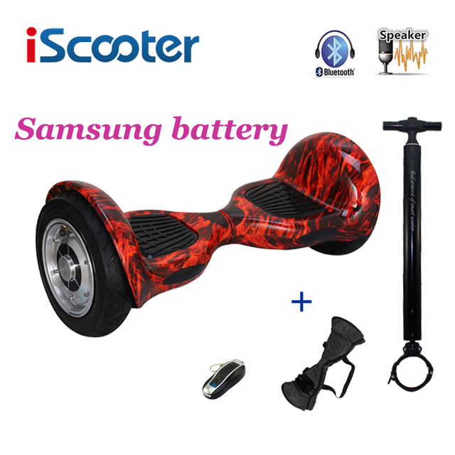 Iscooter 10 дюймов hoverbaord samsung батареи электрический балансируя скутер для взрослых скейтборд 10 колеса 700 Вт hoverboard ul2722