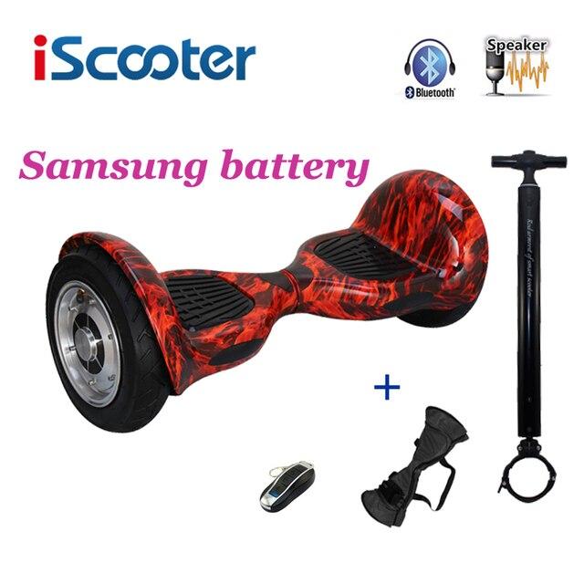 Iscooter 10 дюймов hoverbaord Samsung батареи Электрический балансируя Скутер для взрослых скейтборд 10 колес 700 Вт ХОВЕРБОРДА ul2722