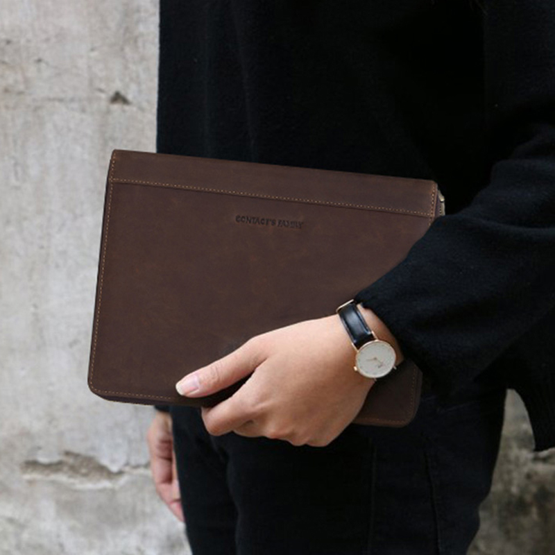 Funda de cuero Retro para iPad Pro 10,5 Air 3 11 2019 folio teléfono auricular de bolsillo bolsa pasaporte titular cremallera protectora alrededor - 6