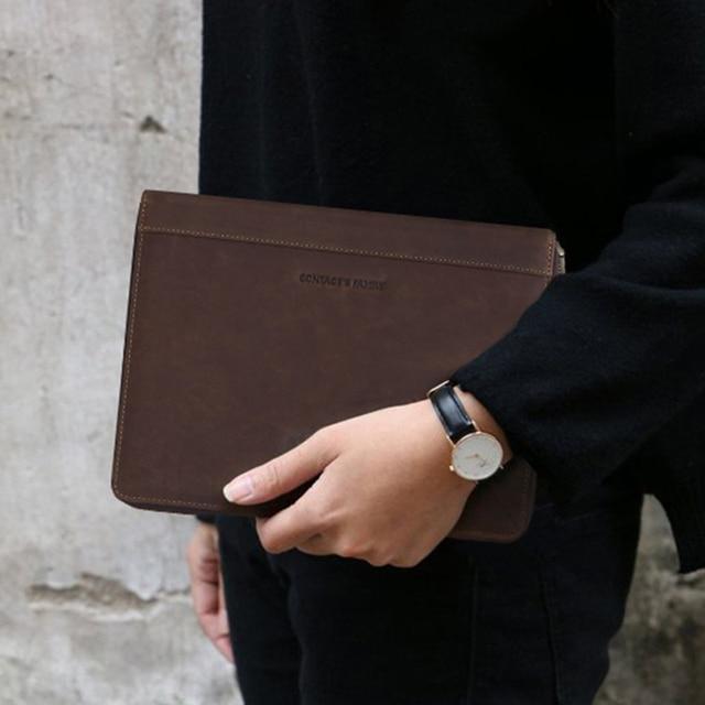 "Retro Leather Padfolio Case For New iPad Pro 11 2020 10.5"" Air 3 Folder Phone Pocket Storage Holder Organizer Zippered around 5"