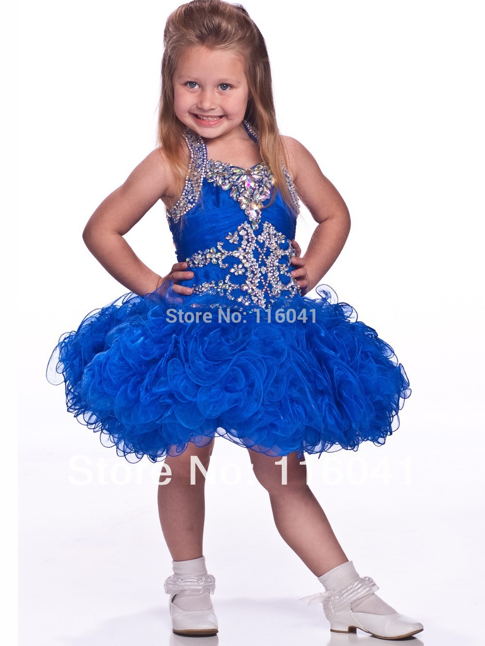 Online Buy Wholesale royal blue pageant dresses little girls from ...