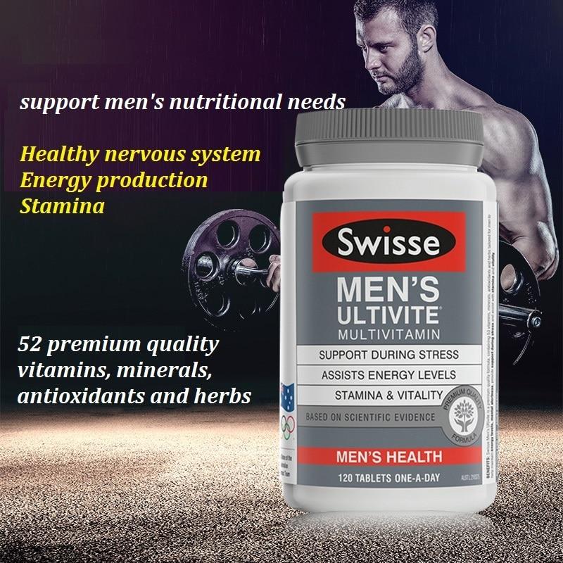 Australia Swisse Men s Ultivite Multivitamins 120TABLETS Maintain Energy Levels Mental Alertness Stamina Vitality during Stress