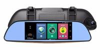 vehicel H3 3G Car DVR Mirror Video Camera 7 Android 5.0 Dash cam 16GB Quad core Full HD 1080P Video Recorder Dual Lens