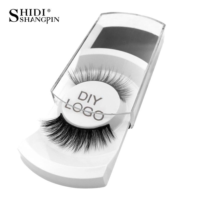 20/30/50/100 pairs DIY personaliza logotipo pacote de etiqueta personalizada cílios postiços cílios falsos mink 3d cílios maquiagem cílios atacado