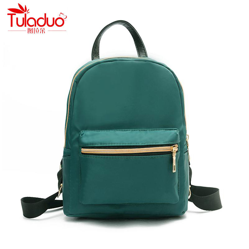 2018 New Fashion Women Nylon Backpack for Teenagers Girls Famous Designer Cute School Bags Ladies High Quality Female Backpacks dizhige brand women backpack high quality pu leather school bags for teenagers girls backpacks women 2018 new female back pack