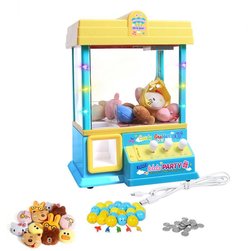 Игровой дом игрушки куклы машина карнавал стиль торговый аркадный коготь кукла Кэнди призовая игра для детей Детские игрушки подарок на день рождения - Цвет: Yellow